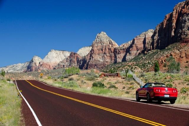 Ford Mustang convertible huurauto