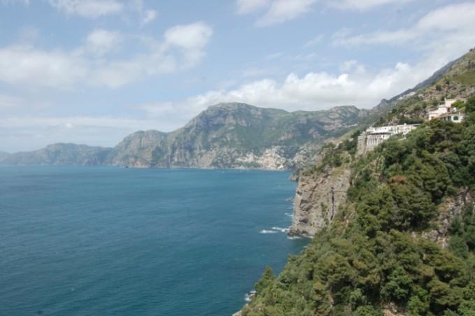 Amalfikust in italië kust