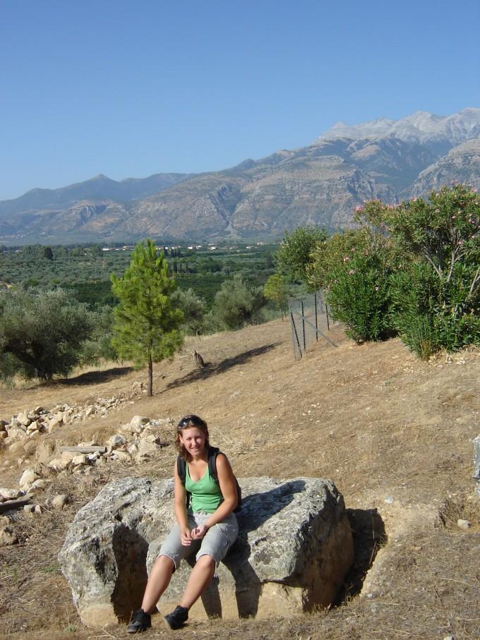 Christel van der Wouw in Peloponnesos griekenland