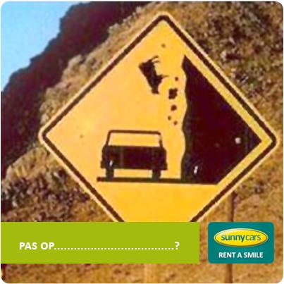 Onduidelijk verkeersbord vallende koeien