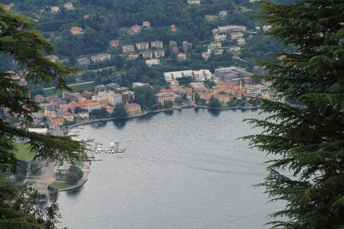 Uitzicht Comomeer italië