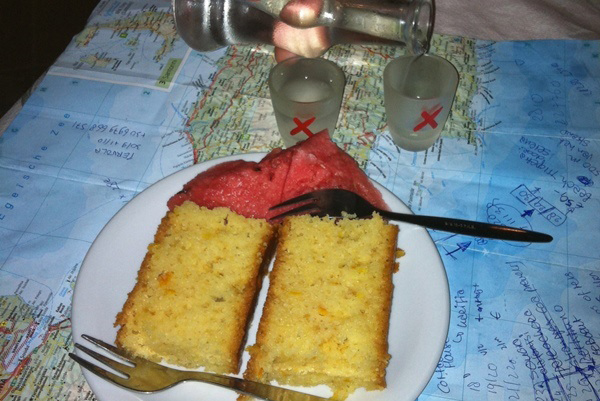 griekenland watermeloen raki