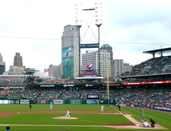rondreis amerika honkbalwedstrijd detroit