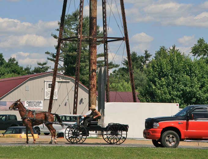 rondreis amerika pennsylvania boer en huifkar