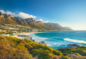 Zuid-Afrika uitzicht van Kaapstad