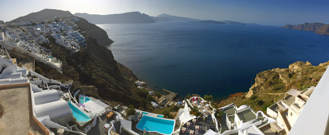 santorini panorama view