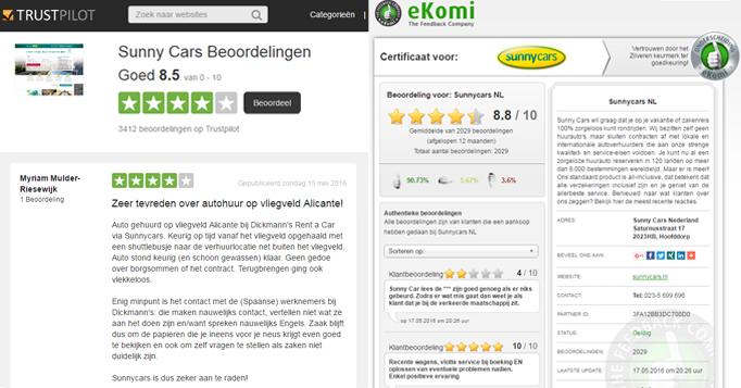 review weergave ekomi trustpilot
