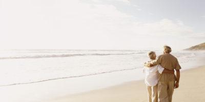 Koppel op strand