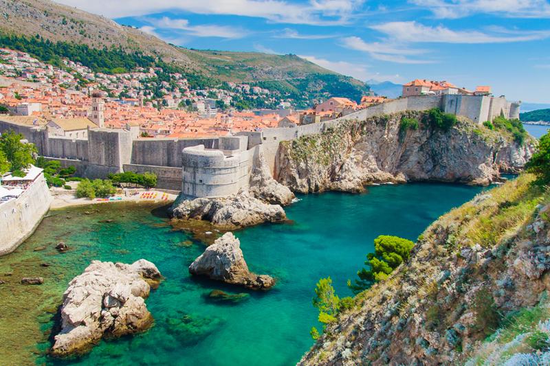 Dubrovnik oude stadsmuren