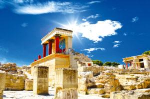 Knossos palace op Kreta