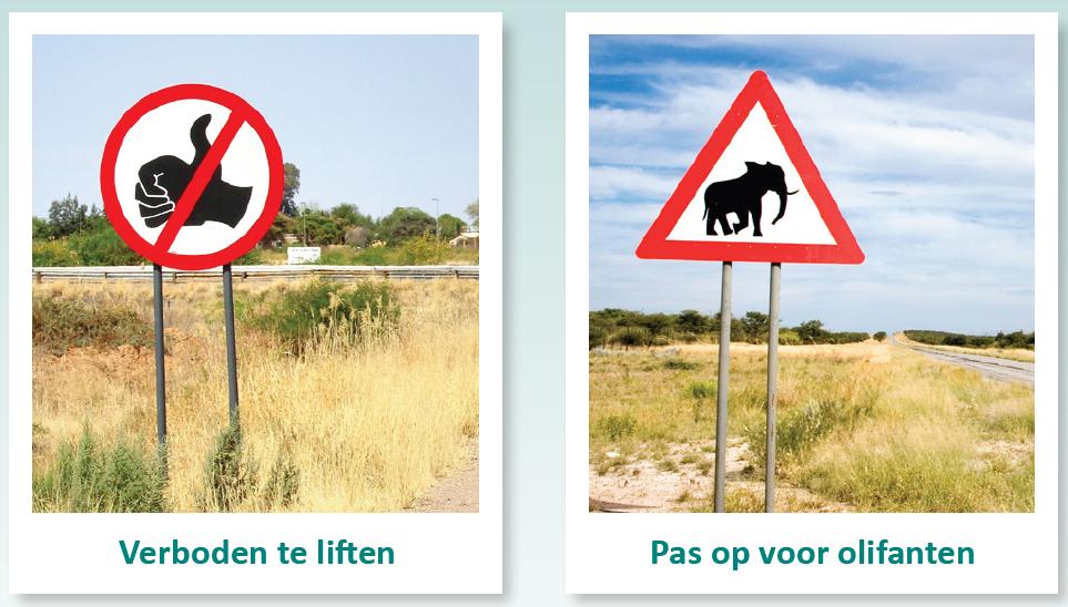 verkeersborden Zuid-Afrika