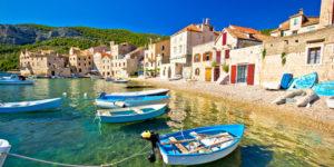Water en bootjes in Kroatië