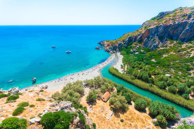 Preveli strand op Kreta