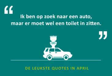 De quotes van april – je huurauto ophalen in Tok en inleveren in Chicken…