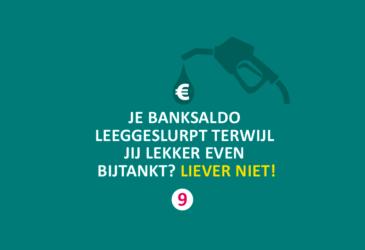 Bespaartip 9: Je banksaldo leeggeslurpt terwijl jij lekker even bijtankt? Liever niet!