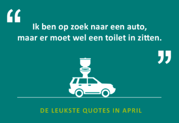 De quotes van april – je huurauto ophalen in Tok en inleveren in Chicken…