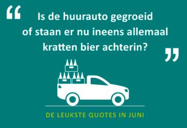 De quotes van juni: Wasjes draaien? Dat doen we bij Sunny Cars niet!