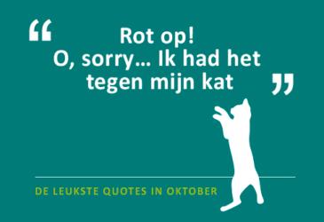 De quotes van oktober – Ineens niet meer zo gezellig?