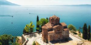 Lake Ohrid in Macedonië