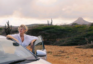 Uitzicht met huurauto op Curacao