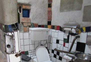 Een toilet van goud in de Bay of Islands