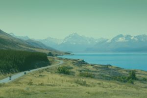 Nieuw-Zeeland uitzicht