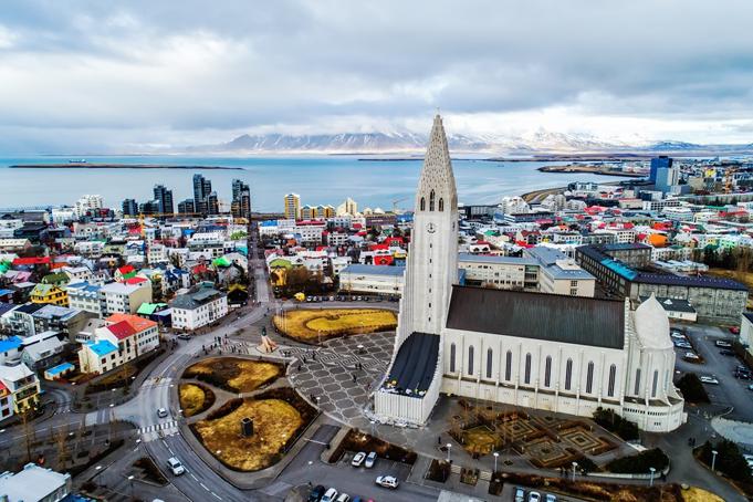 Reykjavik kleurrijke stad IJsland