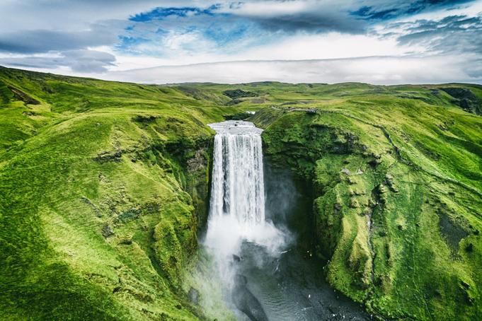 Skofafoss waterval in IJsland