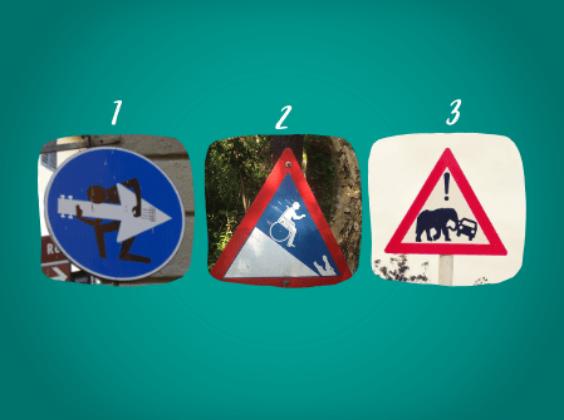 Top 3 gekke verkeersborden van de verkeersbordenactie