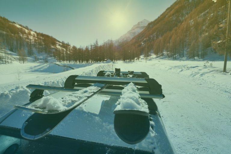 skirack-huurauto-wintersport